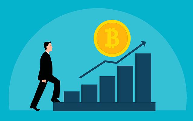 ビットコインの価値が上がっていくグラフ